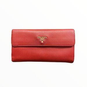 Prada Wallet   Prada Wallet Saffiano Leather Red
